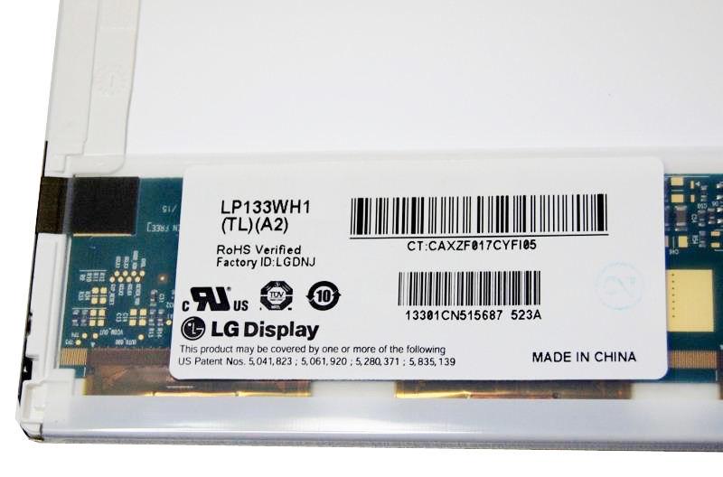 """LG LP133WH1 (TL) (A2) Display LCD 13,3"""" 1366x768 LED glänzend"""