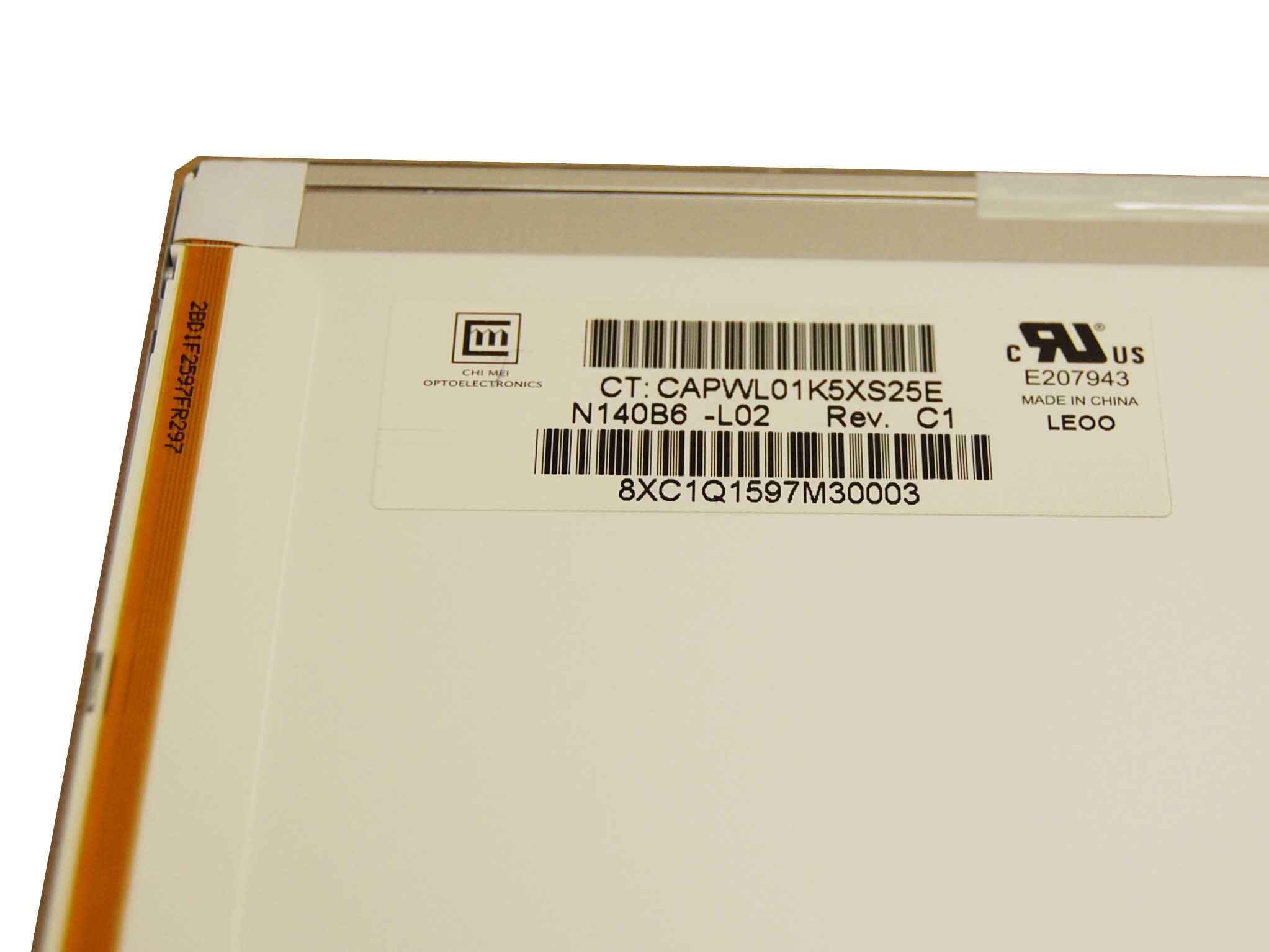 """ChiMei N140B6-L02 Display LCD 14,0"""" 1366x768 LED glänzend"""