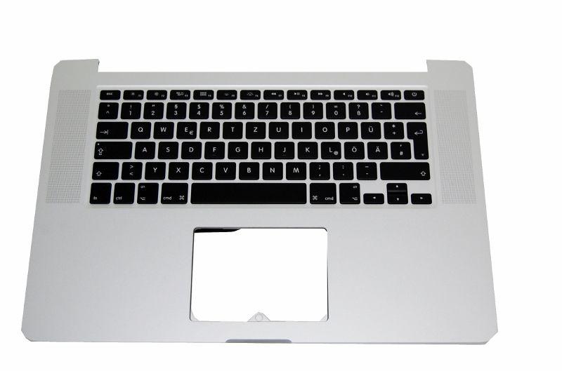 """Tastatur + Topcase Handauflage (Alu Gehäuse) für Apple Macbook Pro Retina 15"""" 2012 A1398 deutsch"""