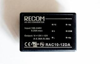 AC/DC-Printnetzteil Recom International RAC10-12DA +-12V 10W Converter