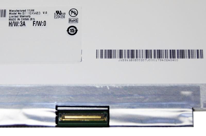 "AU-Optronics B116XW03 V.0 Display LCD 11,6"" 1366x768 LED glänzend"