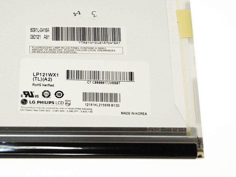 """LG LP121WX1 (TL) (A2) Display LCD 12,1"""" 1280x800 CCFL glänzend"""
